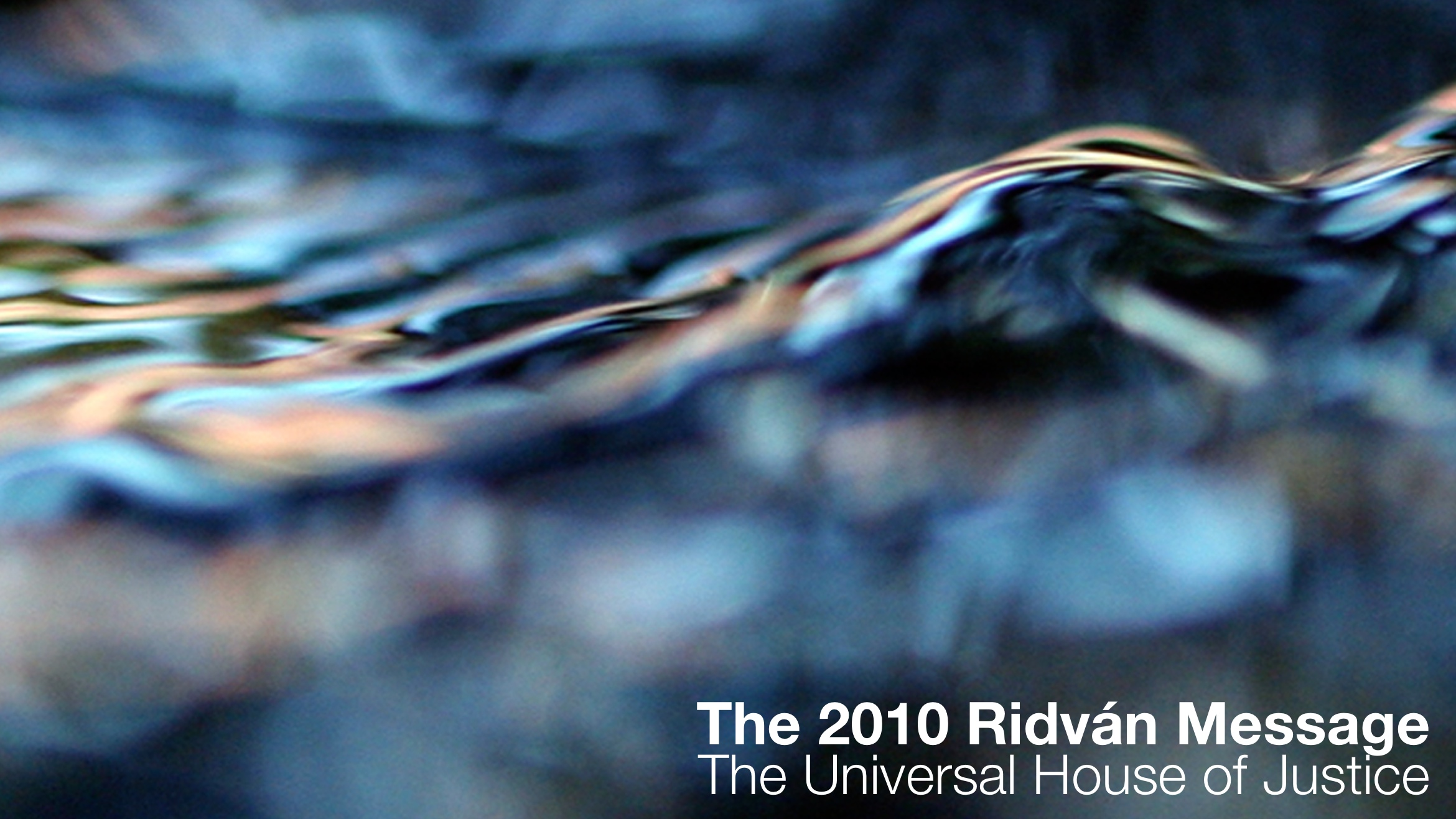 The 2010 Ridvan Message Audio Book